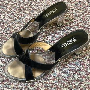 Michael Kors clear and black sandals